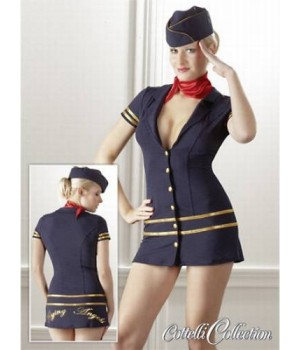 Sexy e seducente costume di stewardess!