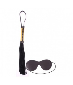 Frusta con borchie-Whip velour with blindfold (oggettistica)