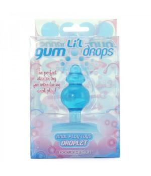 Plug anale-Li\'L Gum Drops - Droplet - Blue (oggettistica)