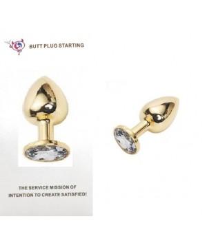 """Elegante plug anale in metallo con """"pietra preziosa"""" (oggettistica)"""