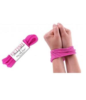 Mini corda di seta rosa