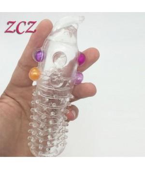 Prolunga per il pene con palline stimolanti (oggettistica)