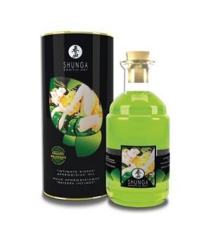 Olio da massaggio Afrodisiaco Organico Groene Thee riscaldante e commestibile 100ml