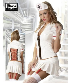 Set da sexy infermiera in PVC lucido