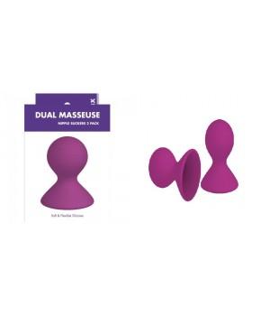 Eleganti succhia capezzoli in silicone Dual massue (oggettistica)