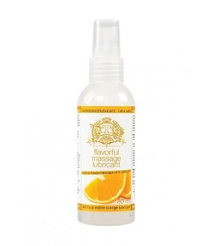 Olio da massaggio lubrificante commestibile all'arancia (liquidi)
