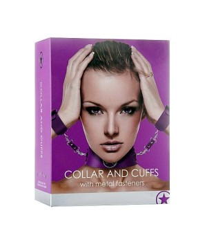 Collare-Collar with Cuffs - Purple (oggettistica)