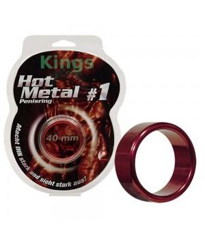 Anello per il pene in metallo Hot Metal rosso (oggettistica)